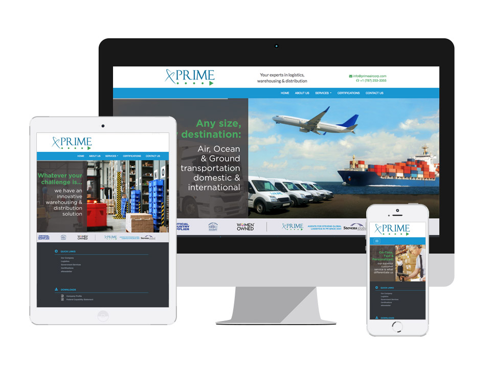 Prime Air Responsive Website
