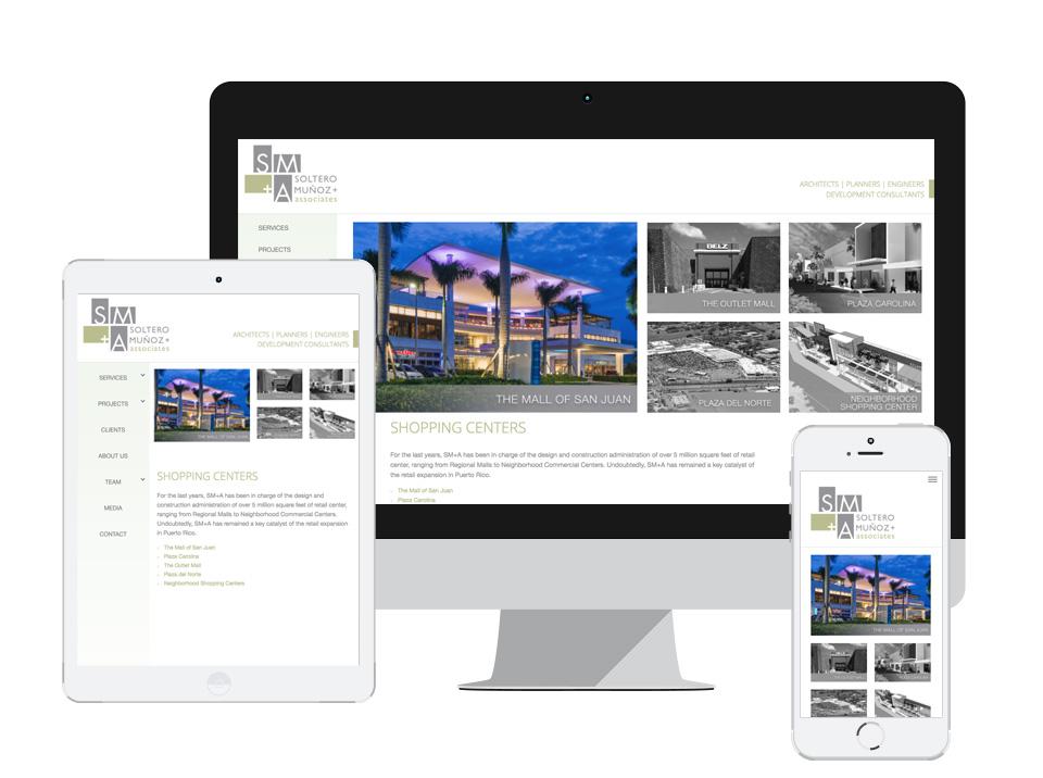 SM+A Responsive Website